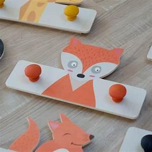 Porte Manteau Chambre : porte manteau renard en bois pour chambre d 39 enfant ~ Farleysfitness.com Idées de Décoration