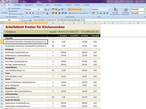 altbausanierung kosten tabelle kostenaufstellung renovierung excel kostenberechnung