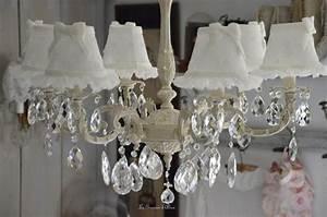 Lustre à Pampilles : lustre pampilles patin abat jour lin le grenier d 39 alice ~ Teatrodelosmanantiales.com Idées de Décoration