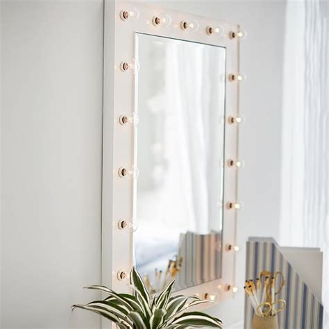 pottery barn wall marquee light mirrors pbteen