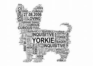 dog personalised word art print by unique word art With personalised word art template