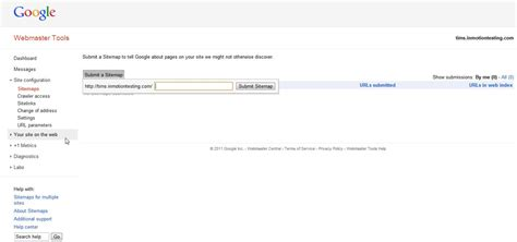 Submitting Sitemap Google Using Webmaster Tools