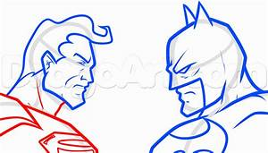 Draw Batman Vs Superman, Step by Step, Drawing Sheets ...