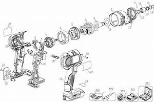 Dewalt Dcf885 20v Impact Driver Parts  Type 1  Parts