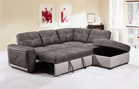 Quinto Grey Fabric Corner Sofa Bed