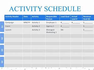 2017 marketing plan template for modern marketers for Campaign schedule template