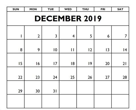 december  calendar template word excel