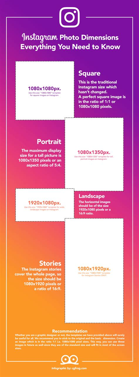 Instagram Photo Sizes Instagram Photo Size 2018 All You Need To Cgfrog
