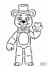 Coloring Freddy Pages Golden Fnaf Printable Paper Drawing Crafts sketch template