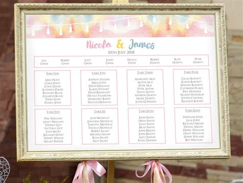 eye catching wedding table plan ideas