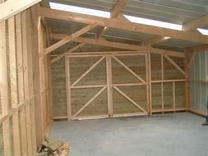 Charpente Traditionnelle Bois En Kit : garage bois toit une pente ~ Premium-room.com Idées de Décoration