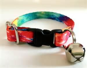 Cat Collar - Kitten Collar - Tie Dye Cat Collar - Breakaway Cat Collar with Removable Bell - Cute Cat Collar - Girl or Boy Cat Collar