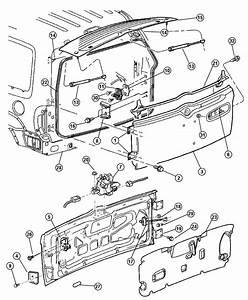 Jeep Liberty Latch  Liftgate Glass  Swingate