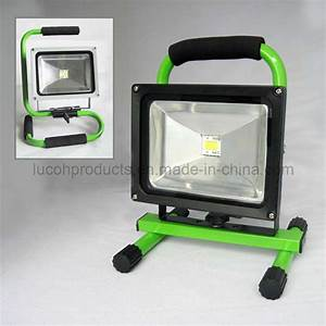 China rechargeable portable w led flood light l