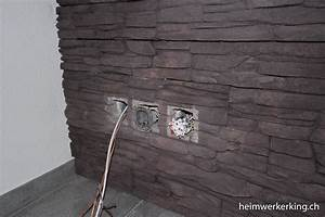Beleuchtung Für Bilder Ohne Kabel : tv wand mit steinverblender ohne sichtbare kabel bauen ~ A.2002-acura-tl-radio.info Haus und Dekorationen