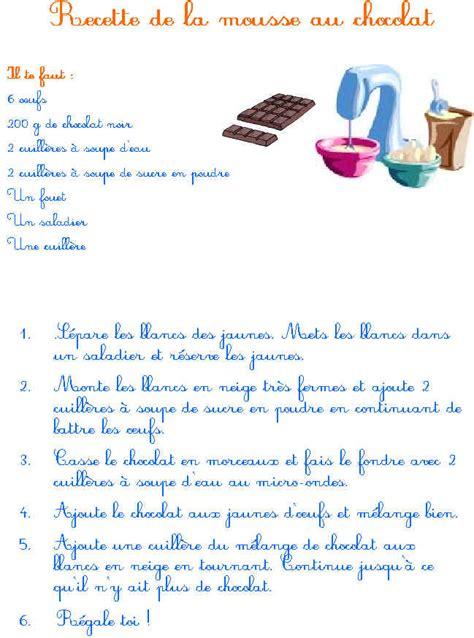 jeux de cuisine de gateau au chocolat recette de gateau au chocolat a imprimer