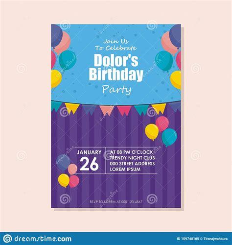 happy birthday card template design  trendy  cute