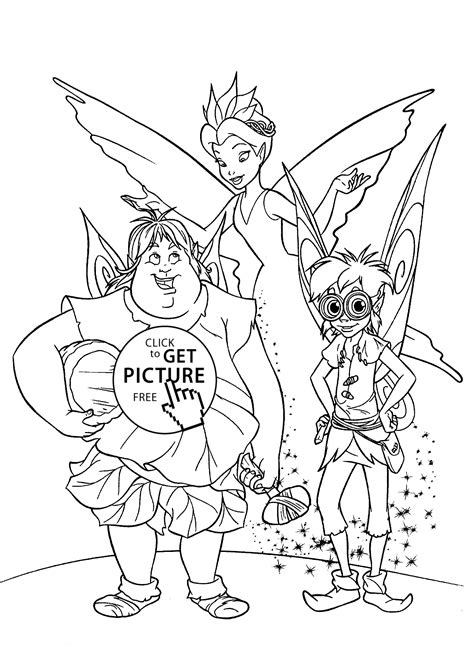 Fairies scene coloring pages for kids printable free