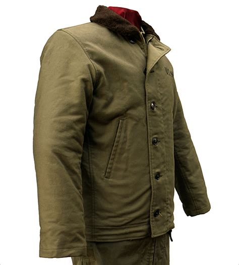 n1 deck jacket real mccoys wear leather coat company n 1 deck jacket by the