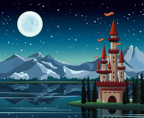 charming night vector background  vector background