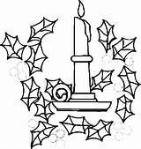 Candle Candles Coloring Pages sketch template