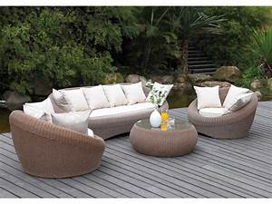 Salon De Jardin Beige : collection whiteheaven en r sine tress e caramel et beige ~ Dailycaller-alerts.com Idées de Décoration