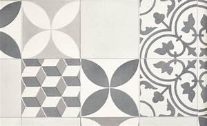 Tapis Pvc Carreaux De Ciment : sol vinyle texas new carreau ciment gris et noir rouleau 4 m sol vinyle collection sol ~ Teatrodelosmanantiales.com Idées de Décoration