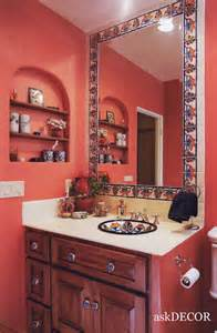 mexican tile bathroom ideas colorful mexican tile surround the built in mirror