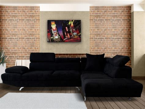 canapé d angle en solde canapé d 39 angle xl en tissu noir ou beige