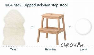 Ikea Bekväm Hack : ikea hack dipped bekv m step stool with tejn faux sheep ~ Eleganceandgraceweddings.com Haus und Dekorationen