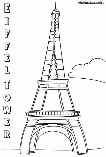 Tower Eiffel Coloring Pages Building
