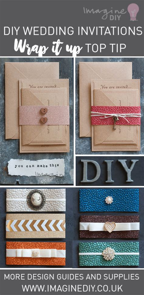 how to make wrap invitations imagine diy