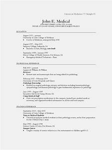 Physician cv examples and templates resume template for Cv template for physicians