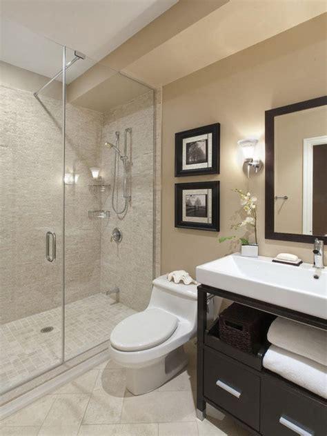 glass mosaic tile beige tile bathroom ideas sleek gray wall painted