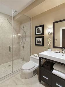 Beige Tile Bathroom Ideas Sleek Dark Gray Wall Painted