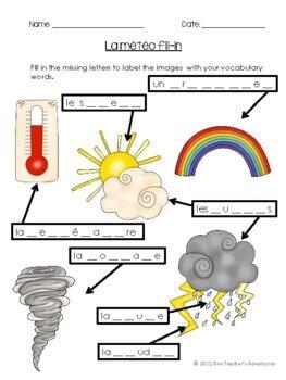 la meteo french weather vocabulary activities  quiz