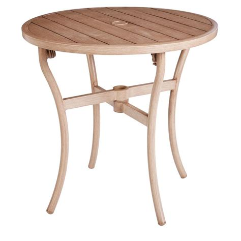 hton bay broussard 28 in patio bistro table fts60734a