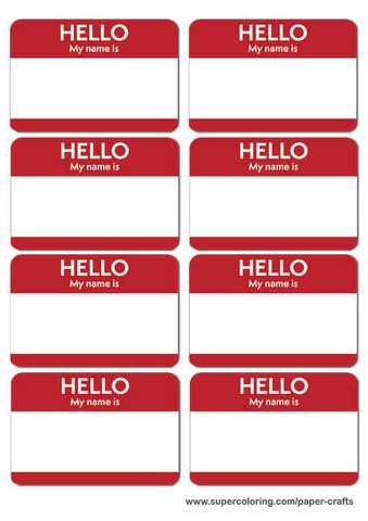 Name Badge Template Name Badges Printable Template Free Printable