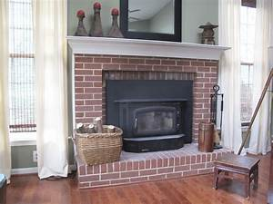 Painting, My, Ugly, Brick, Fireplace