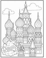 Cathedral Coloring Basil Pages Saint Moscow Architecture Square Projects Adult Basils Sheets Printable Mc Artprojectsforkids St Simple Bloglovin Drawing Template sketch template