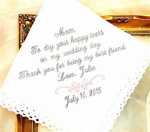 wedding gift for mother of the bride handkerchief to dry With wedding gifts for best friend
