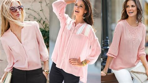 moda 2018 blusas primavera color rosa youtube