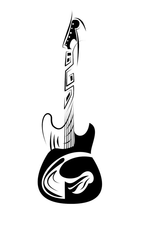 guitar tattoo images designs