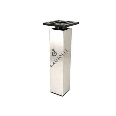 pied pour table basse en aluminium hauteur 100 mm caujolle