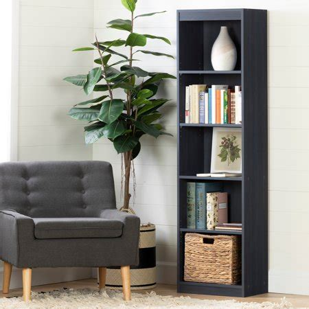 South Shore Smart Basics 5shelf Narrow Bookcase, Multiple