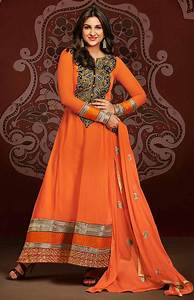 Parineeti Chopra in anarkali salwar kameez orange dress hd ...