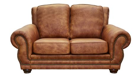 carnegie fawn leather loveseat