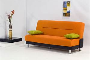 Small orange sleeper sofa design ideas for small room for Small sectional sofa decorating ideas