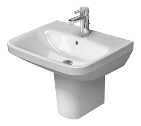 duravit 2319550000 white durastyle 21 5 8 quot ceramic bathroom sink for wall mounted or pedestal