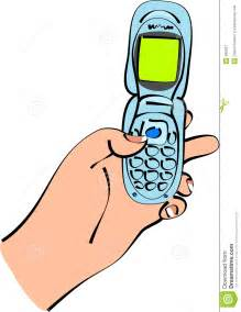 Cell Phone Texting Clip Art